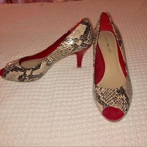 Bandolino Snake Skin Red Heels never worn